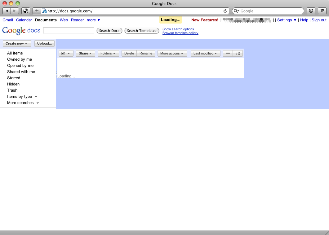 Screenshot of Google Docs with JavaScript disabled