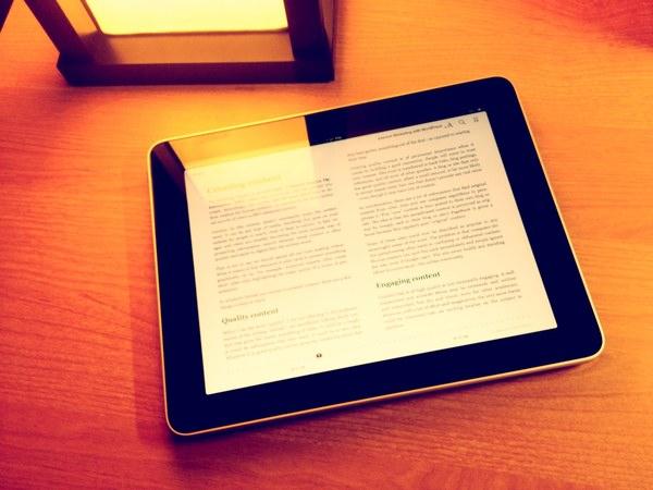 Photo of book on iPad
