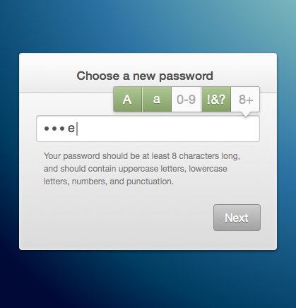 A better password requirements UI