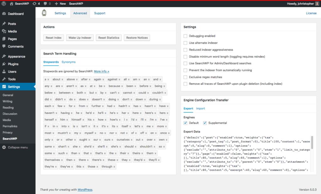 Screenshot of tabs UI