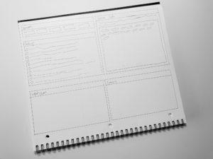Photo of UI sketch